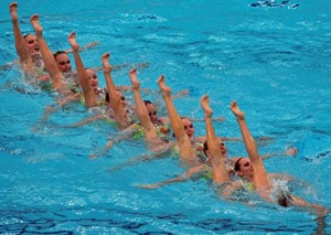 Canadian team all synchronised for London
