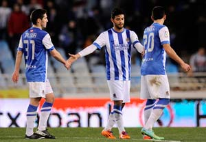 Carlos Vela leads Real Sociedad to 1-0 win at Malaga in Spain