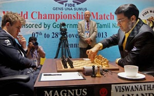 Magnus Carlsen beats Viswanathan Anand in sixth game, leads world chess championship 4-2