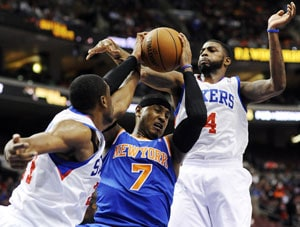 New York Knicks down Philadelphia 76ers 110-88