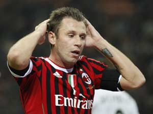 Antonio Cassano could return to training at end of month