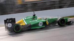 Belgian Grand Prix: Rain just the ticket for Formula One team Caterham's Giedo Van der Garde
