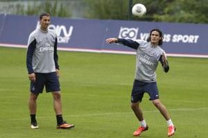 Edinson Cavani steps up training ahead of Montpellier