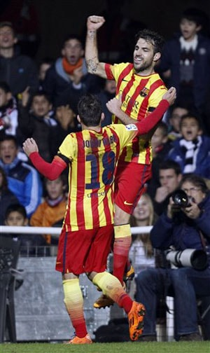 Barcelona back to winning ways in Copa del Rey opener