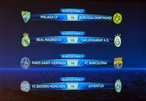 UEFA Champions League quarter-final draws announced, Barcelona to take on PSG