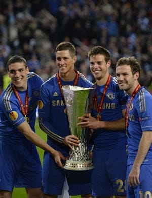 Branislav Ivanovic helps Chelsea defeat Benfica and claim Europa League title