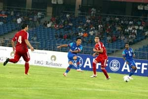 Nehru Cup: India coach happy with display in opener