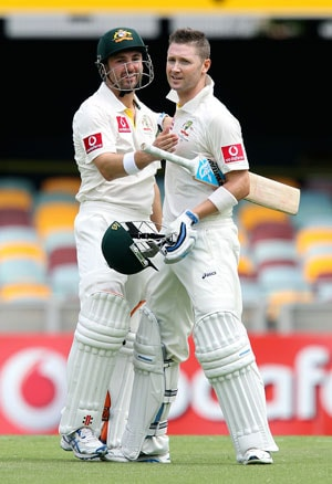 Ed Cowan, Michael Clarke put Australia on top