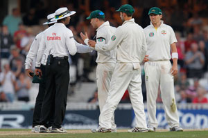 The Ashes: Michael Clarke's warning to umpire ends bitter series