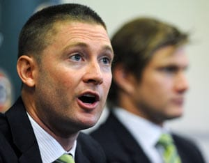 Michael Clarke backs Shane Watson to lead side in case he misses out