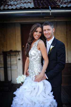 Australia cricket captain Michael Clarke marries