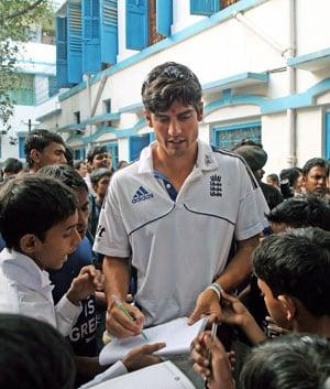 England cricketers visit underprivileged school children in Kolkata