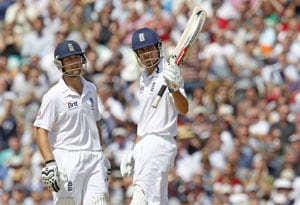 Cook's century gives England the edge against South Africa