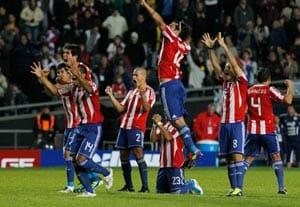 Paraguay down defending champion Brazil