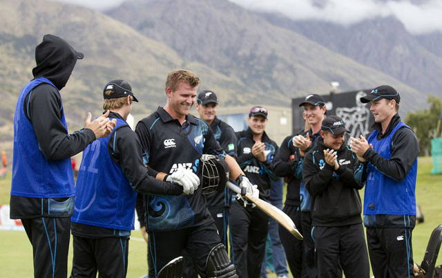 Corey Anderson's record-breaking ton sets up 159-run win for New Zealand