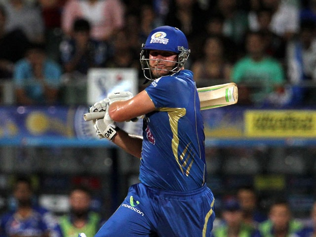 requiring to chase down a 190 run target within 15 overs mumbai indians overhauled the target in 144 overs when aditya tare hoisted james faulkner for a
