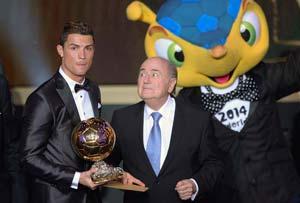 Sepp Blatter rift settled in telephone call, says Cristiano Ronaldo