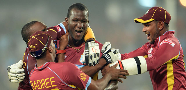 World Twenty20: Chris Gayle, Darren Sammy guide West Indies to thrilling six-wicket win over Australia
