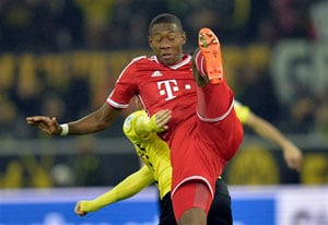 Defender David Alaba extends Bayern Munich deal to 2018