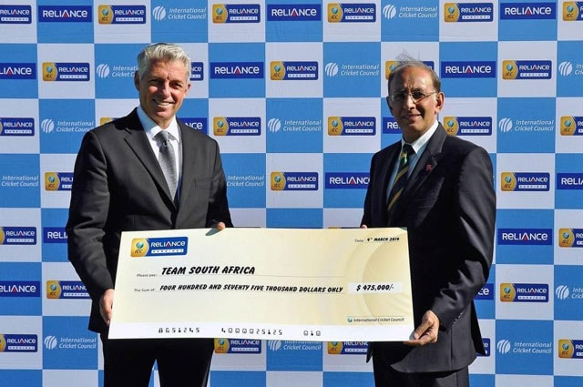 South Africa get $475,000 for ending No.1 in Tests