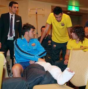 David Villa on schedule to recover from surgery