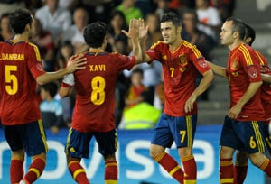 David Villa happy to be back in Spanish squad