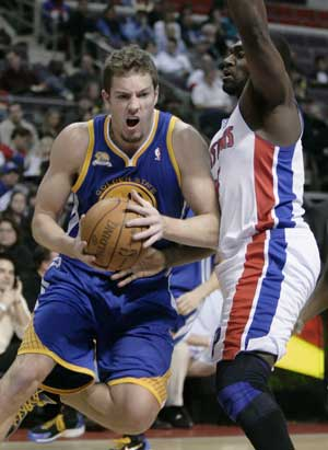 Warriors beat Pistons 99-91