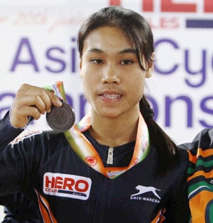 Tsunami survivor Deborah wins bronze for India in Asian Cycling Championship