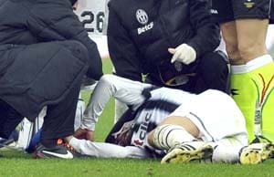 Del Piero gets eight stitches after kick to the face