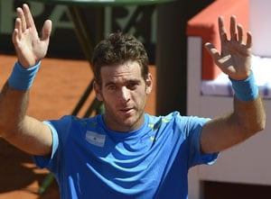 Juan Martin Del Potro gives Argentina upper hand against Czech Republic
