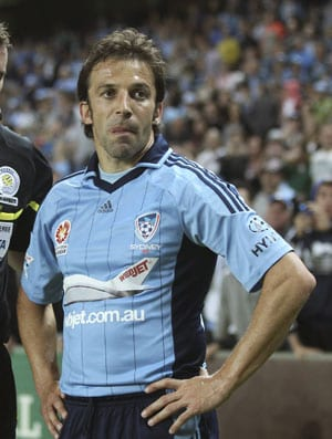 Alessandro Del Piero frustrated at Sydney's losing streak