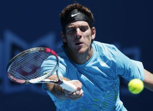 Australian Open: Del Potro battles into round two