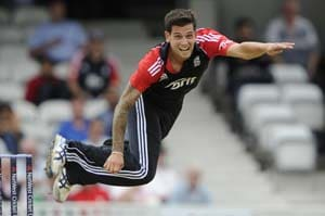 England's Jade Dernbach out of Australia series