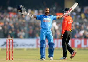 Shikhar Dhawan breaks into top-10 of ICC ODI rankings for first time
