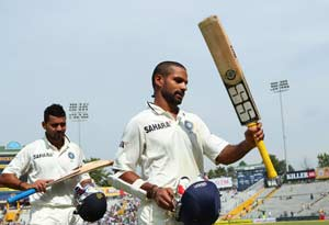 Despite Shikhar Dhawan's whirlwind 185 low turn out of fans at PCA