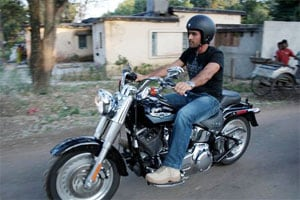 Fast but not so furious: Injured MS Dhoni 'reunites' with his Harley