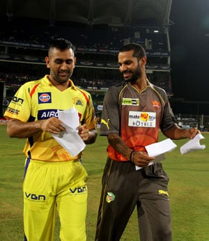 CLT20: Skippers Shikhar Dhawan, MS Dhoni fined for slow over rate