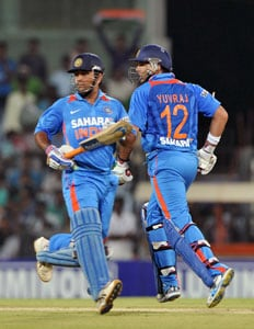 Mahendra Singh Dhoni and team back match-winner Yuvraj Singh