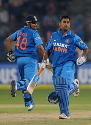 Phew! What a win. Heroic once again by Dhoni, tweets Raina