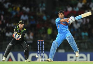 Dhoni blames flop batting, rain for loss to Australia