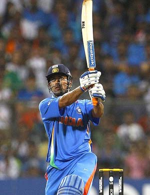 Dhoni's World-Cup winning bat to go under the hammer