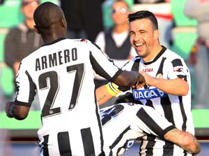 Udinese, Lazio keep pressure on Juventus
