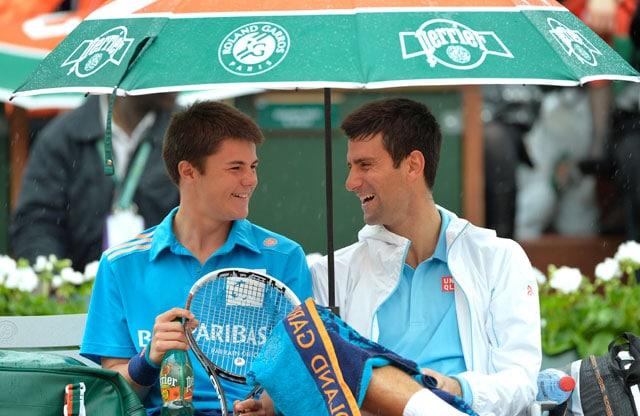 French Open: Novak Djokovic Finds a Friend in Ball Boy