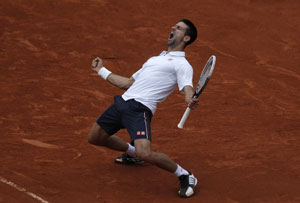 Novak Djokovic edges Tsonga for 26th Slam win in row