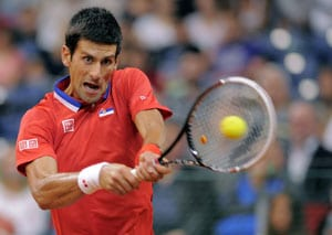 Novak Djokovic wins as Serbia level with Canada in Davis Cup semis