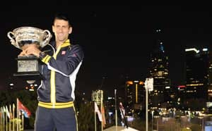 When Novak Djokovic celebrated his win by offering chocolates