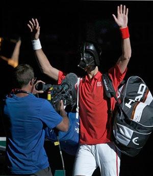 'Darth Vader' Novak Djokovic crashes out of Paris Masters