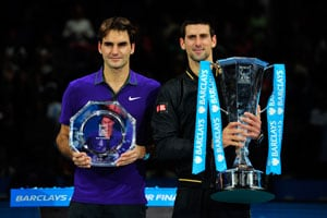 Roger Federer and Novak Djokovic (file photo)