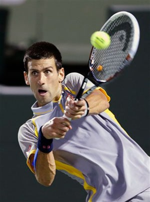 Miami Masters: Novak Djokovic races past Lukas Rosol into third round