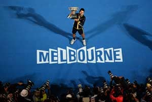 Novak Djokovic wears down Andy Murray for Australian Open hat-trick